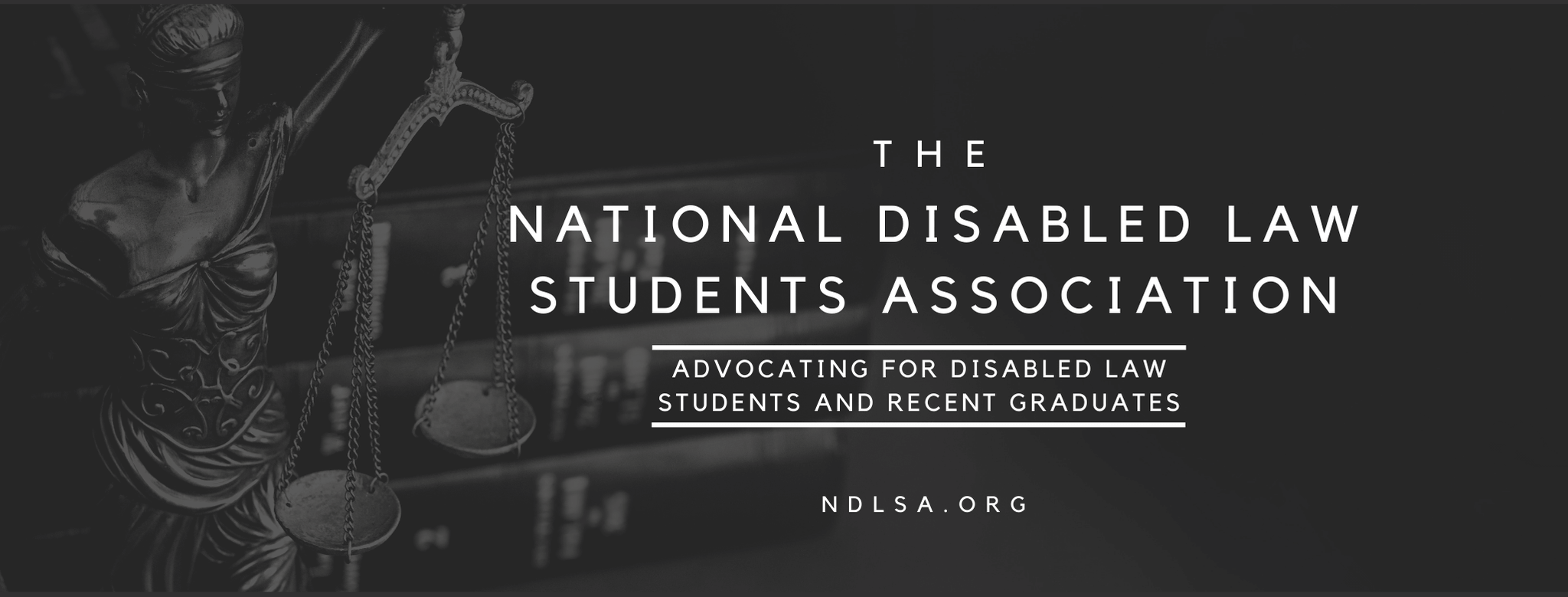NDLSA: National Disabled Law Students Association image showing the scales of justice