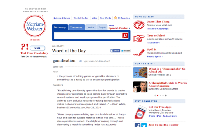 "screenshot of Merriam-Webster's ""Word of the Day"" page"
